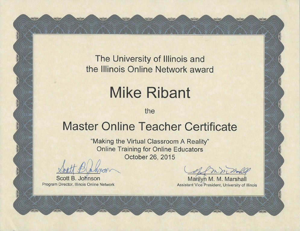 Master Online Teaching Certificate